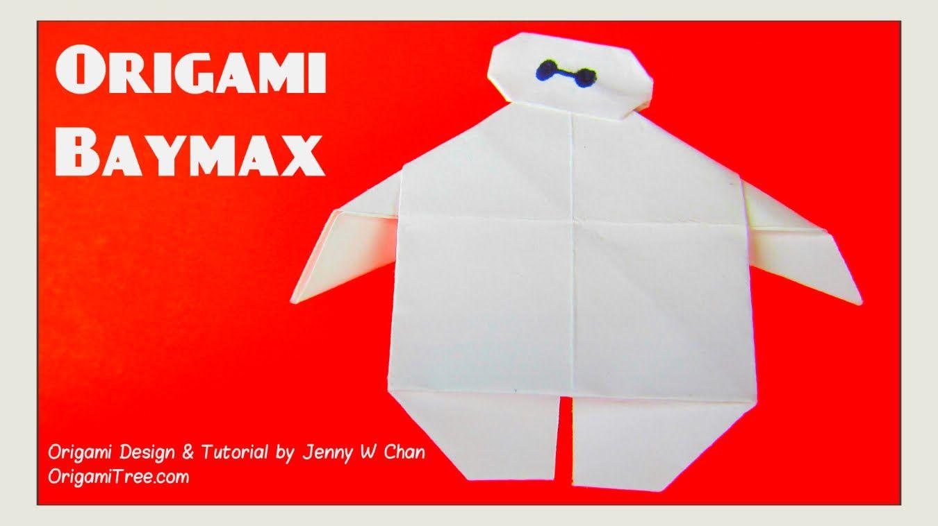Origami Baymax Disney Big Hero 6 Paper Crafts For Kids Easy