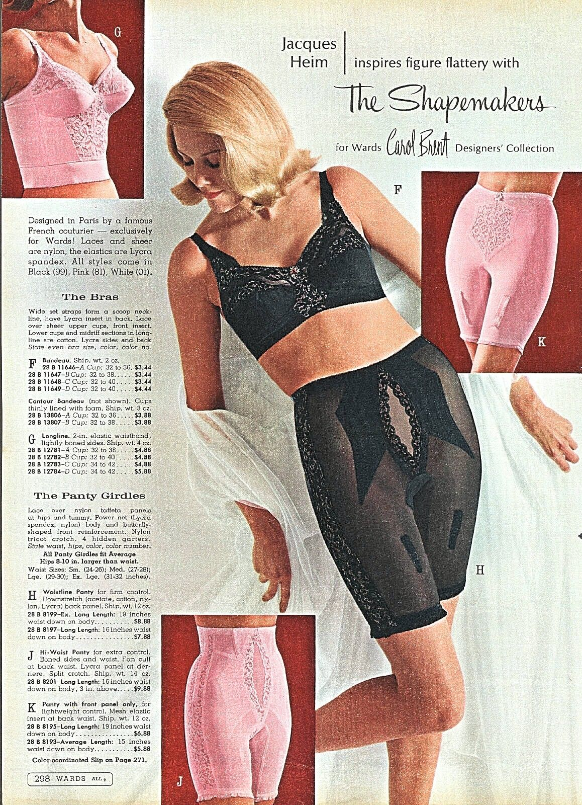 6bfd0f4ac68f Carol Brent shapemakers, black elegance & pink femininity, fantastic.  Squeeze me in. #vintage #foundationwear