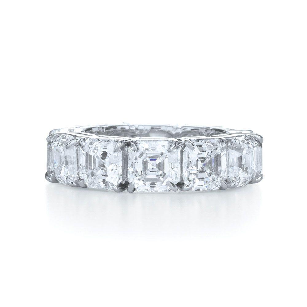 by kwiat asscher cut wedding ring asscher cut