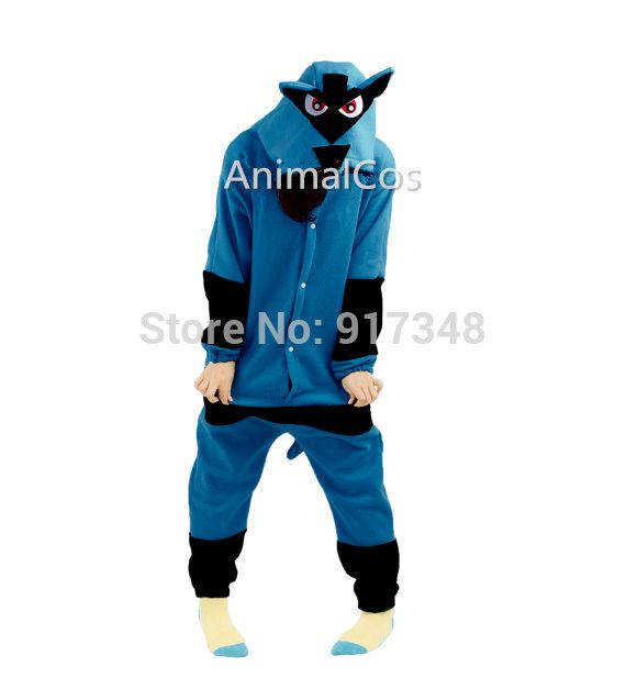 Novelty Cartoon Anime Character Pokemon Lucario Costume Adult ...