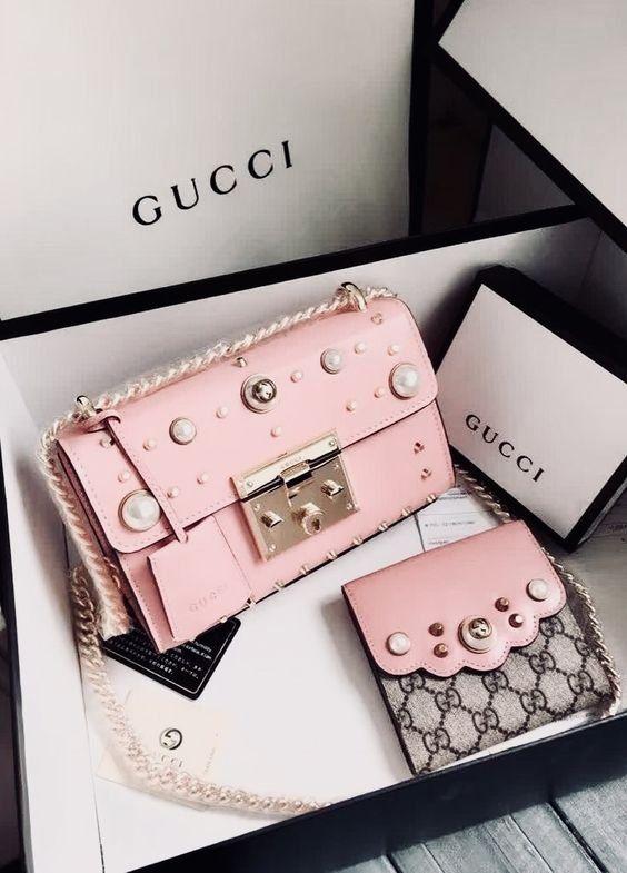 671d4e57f Bag   Pink bag   Designer bag   Gucci bag   Crossbody bag   Roze tas ...