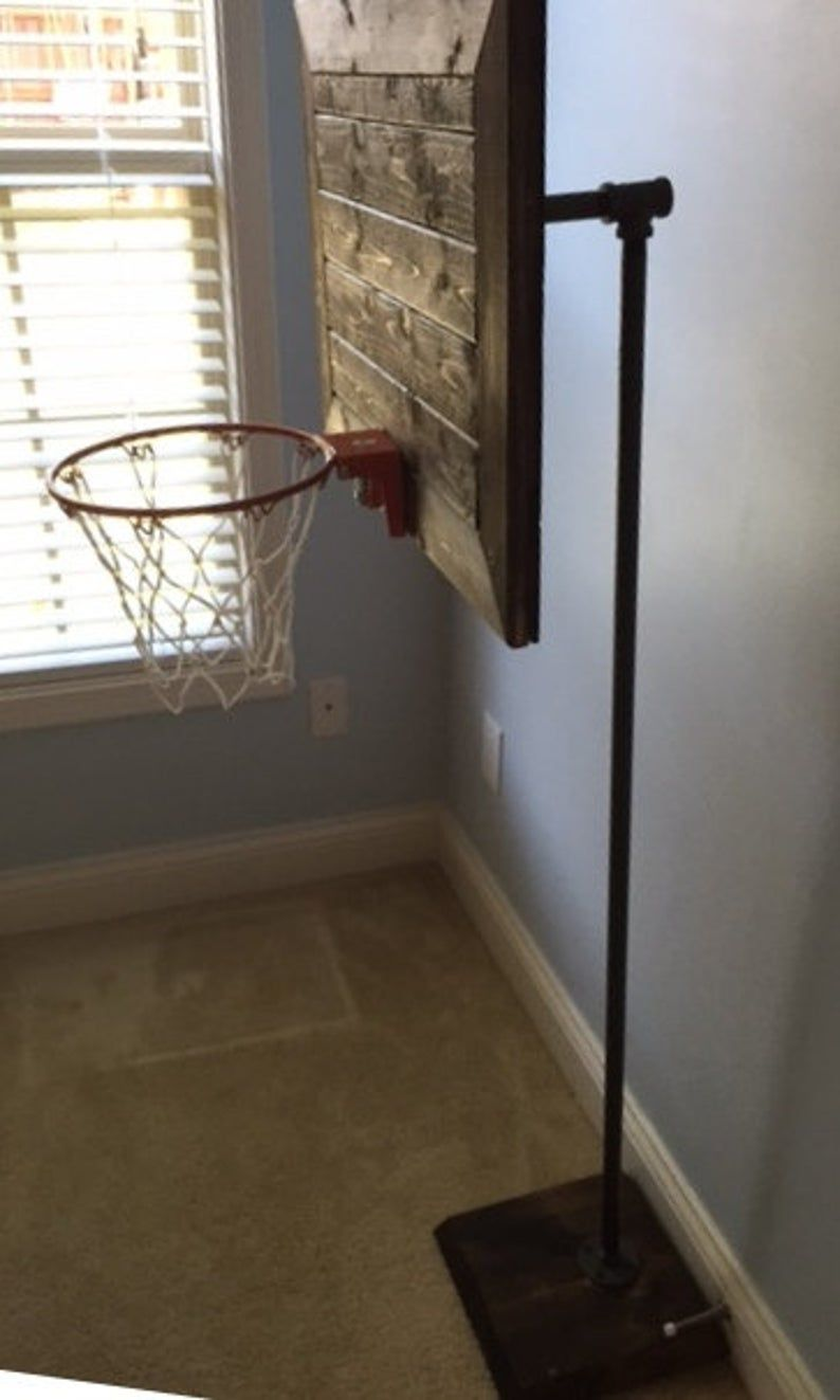 Vintage Designed Pallet Basketball Hoop System Decor Mini Etsy In 2021 Diy Projects Man Cave Sports Themed Room Basement Decor