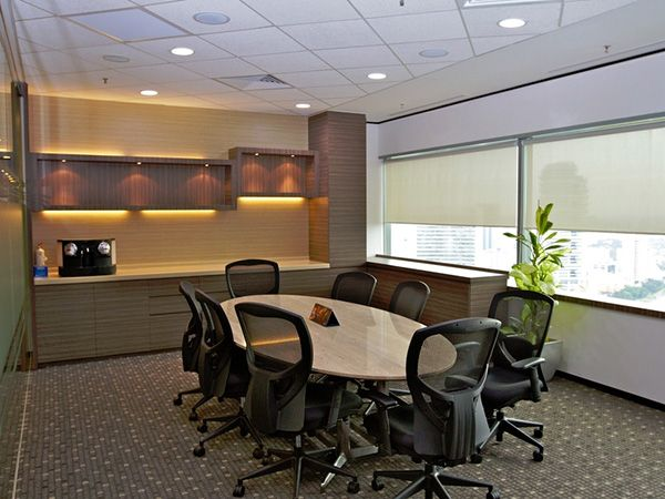 ideas  meeting room chair desk plant cabinet wood warm