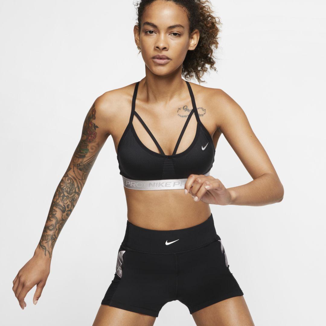 Nike Pro Aeroadapt Indy Women S Light Support Sports Bra Size Xl Black Sports Bra Black Sports Bra Nike Pros