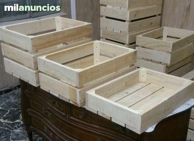 Cajas de madera de 50x35x10 tenemos distintos modelos construidas de forma artesanal con - Cajas de madera para frutas ...