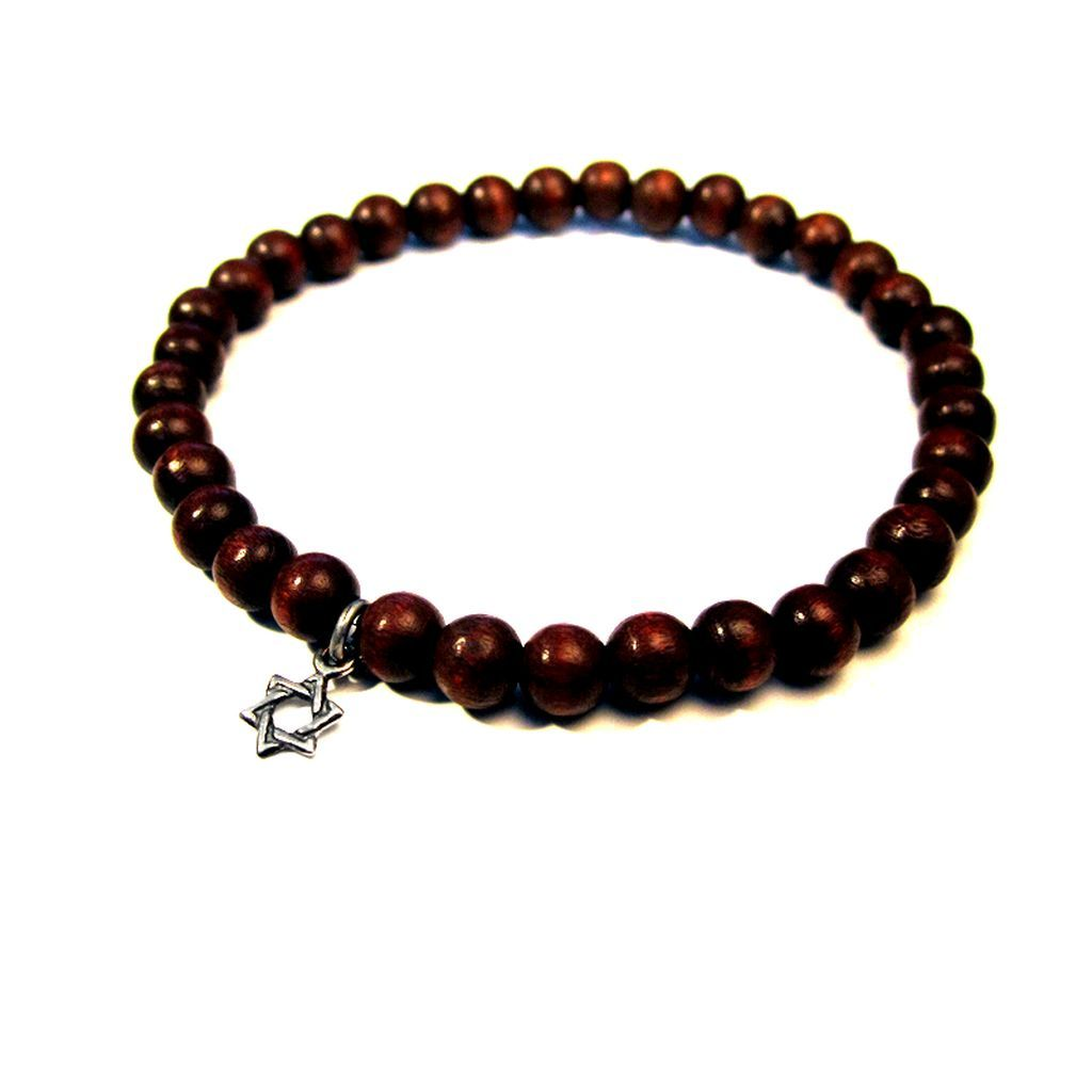 Wood beads jewelry bracelet for men mens gift and present