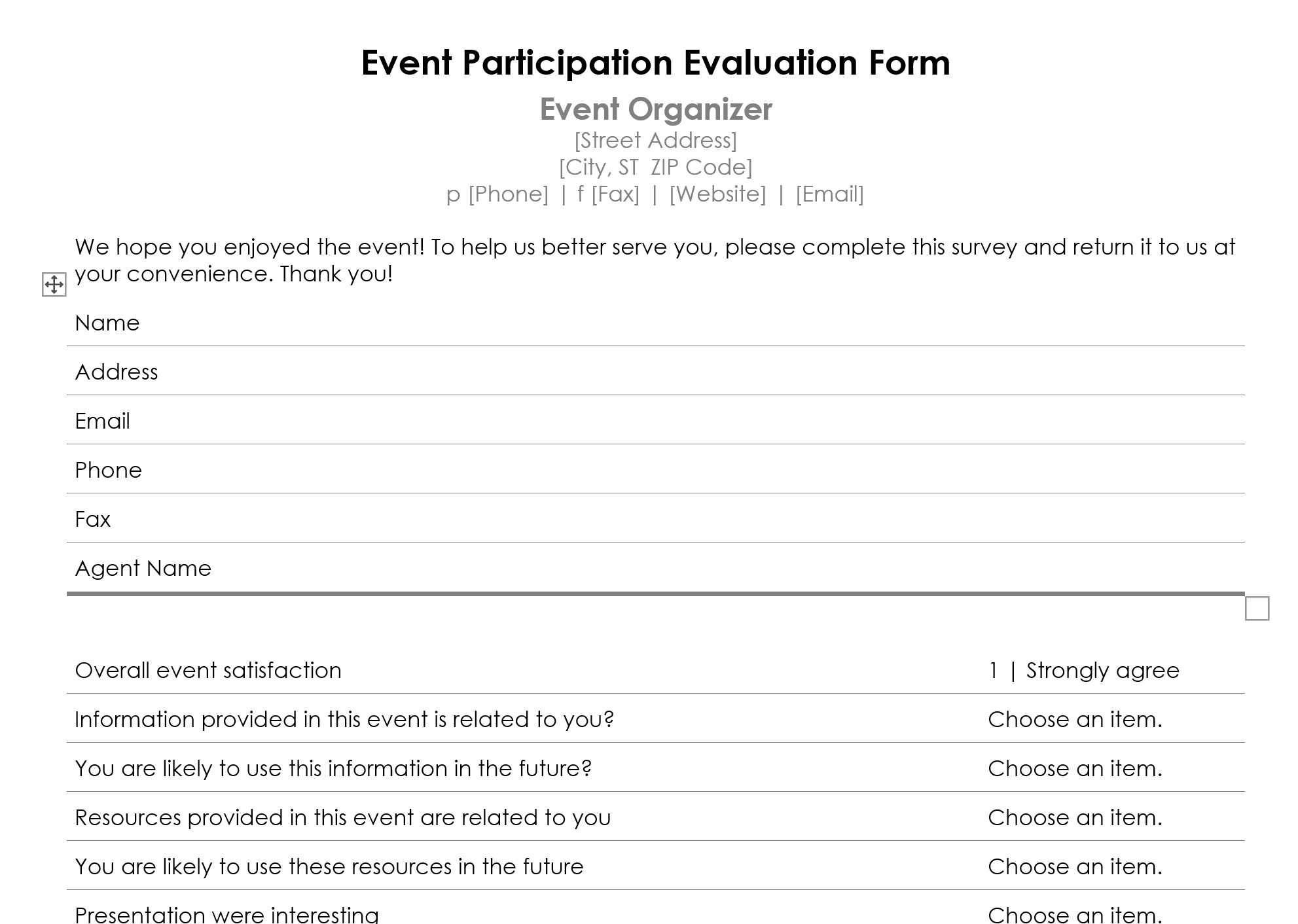 How To Create An Event Feedback Form (+Template ...