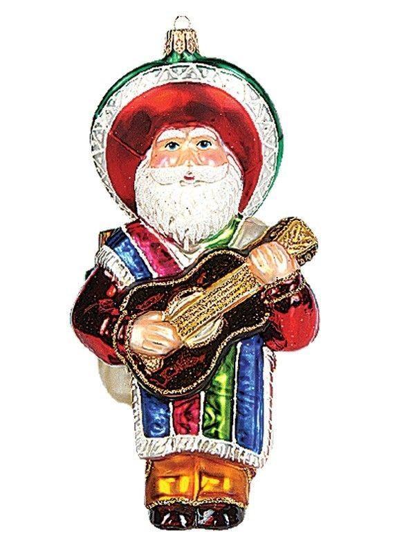 Pinnacle Peak Glass Mexican Santa Claus Christmas Ornament - Pinnacle Peak Glass Mexican Santa Claus Christmas Ornament SANTA