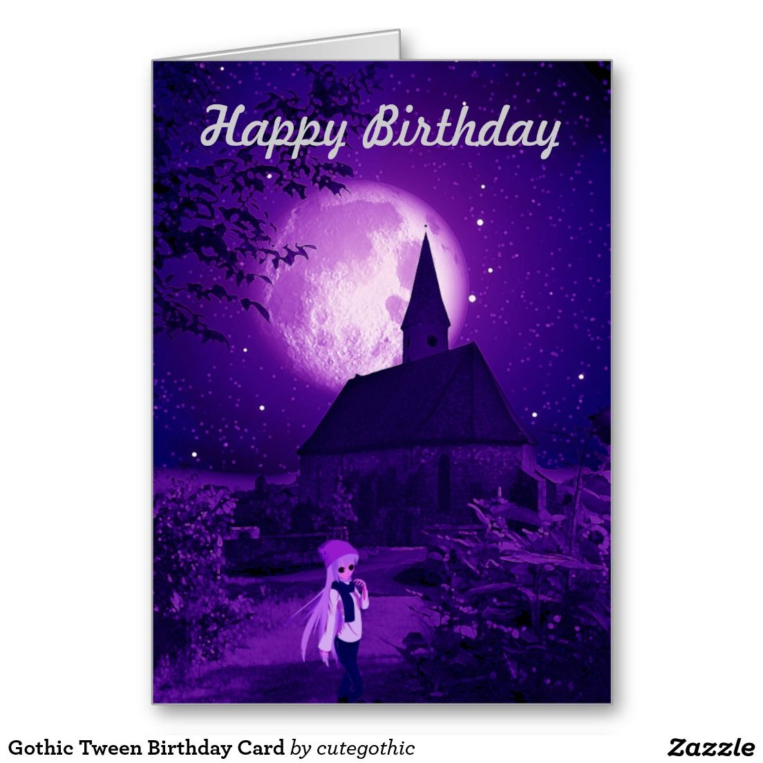 Gothic tween birthday card birthday cards pinterest tween and birthdays kristyandbryce Choice Image