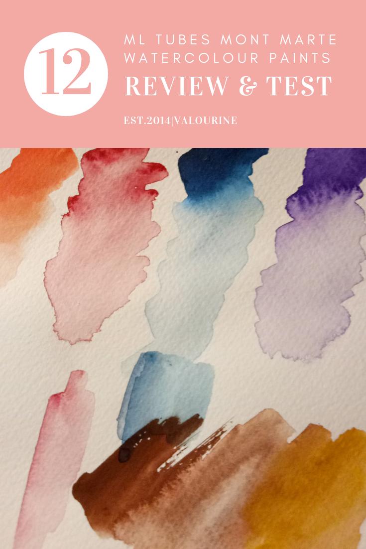 Mont Marte Watercolour Paints Review Paint Test Art Tutorials Watercolor Basic Watercolor Watercolor Art Diy