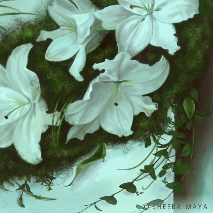 "Detail from ""Virgo"" by Sheeba Maya."