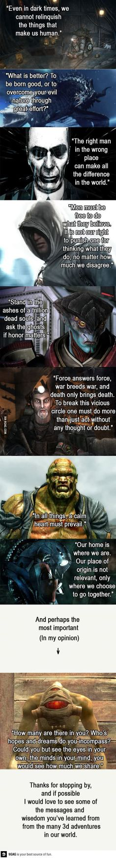 I Love The Quote From Fawkes Fallout 3 He Is By Far The Best Follower In The Game Besides Charon War War Ne Video Game Quotes Game Quotes Video Game Memes
