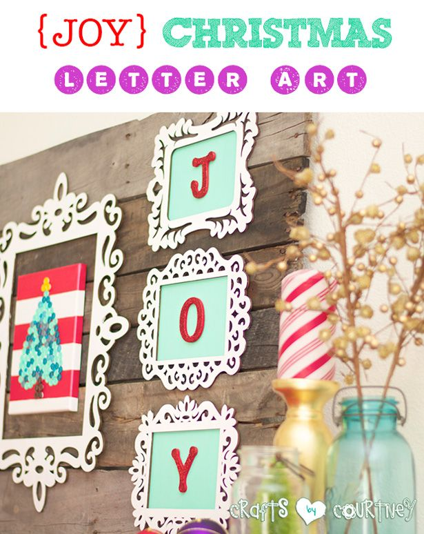 Do it yourself framed joy christmas decor letter art pinterest in the mood for a diy christmas craft of course you are spread joy solutioingenieria Images
