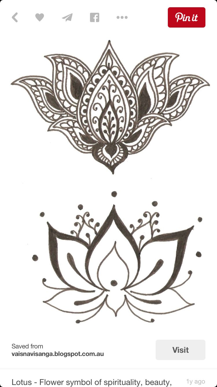 Pin By Meg Flynn On Tribal Art Henna Pinterest Lotus Hennas