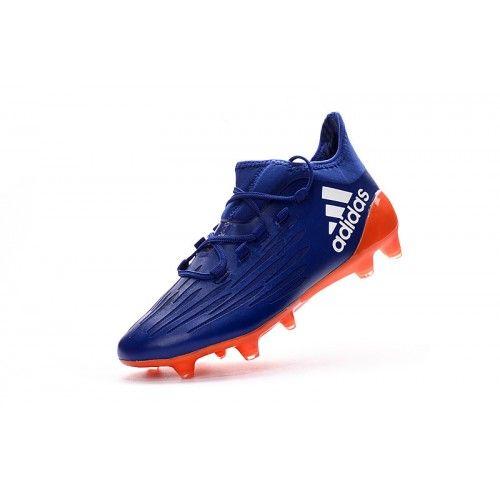 best website f549b e078e Beste Adidas X 16.1 FG TPU Bla Oransje Fotballsko