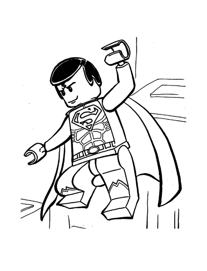 lego superman ready to attack  lego coloring pages