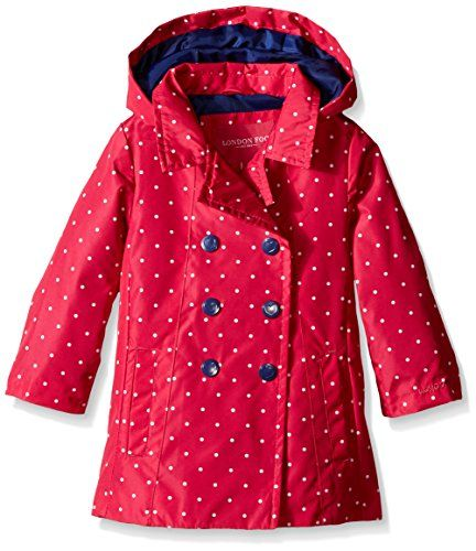 London Fog Baby Printed Enhanced Radiance Trench Coat Pink Dot 18 Months --  More info could be found at the image url. (This is an affiliate link) 5b58b3cbb9d4