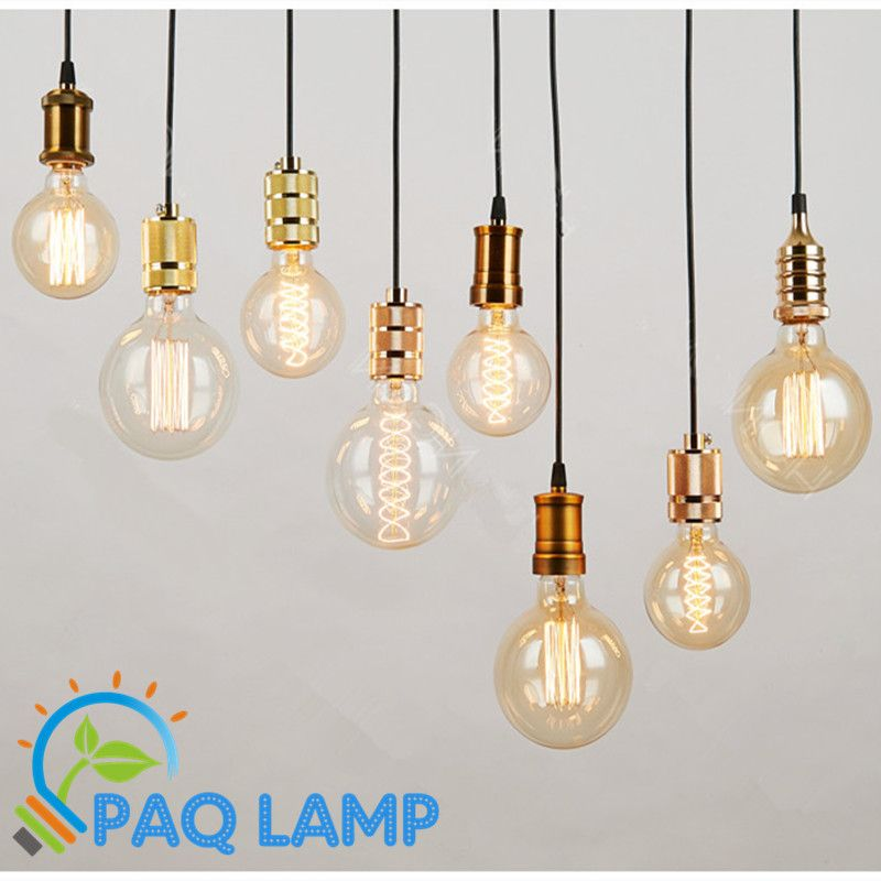 Pendentif simple lampes vintage r tro clairage e27 e26 for Lampe suspension ampoule