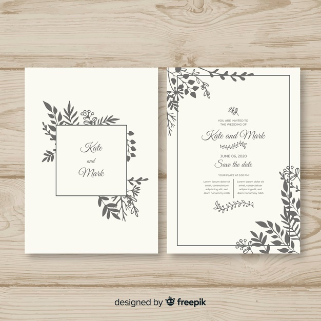 Download Hand Drawn Wedding Invitation Template For Free Contoh Undangan Pernikahan Undangan Perkawinan Undangan Pernikahan
