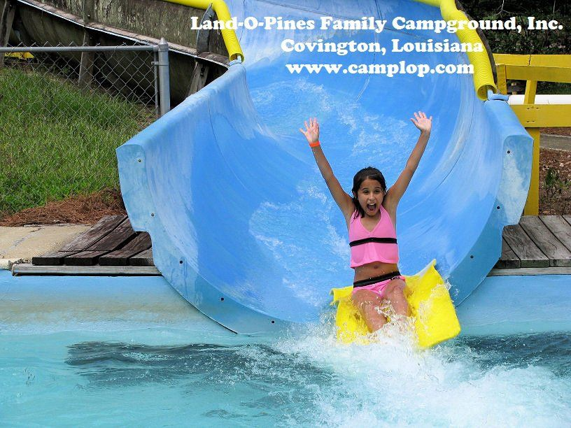 Water slide at Land-O-Pines Family Campground! The kids LOVE it! Its isnt too big, and easy to ride!   www.camplop.com