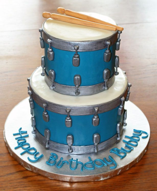 Cool Drums With Images Drum Cake Music Cakes Cupcake Cakes Personalised Birthday Cards Veneteletsinfo