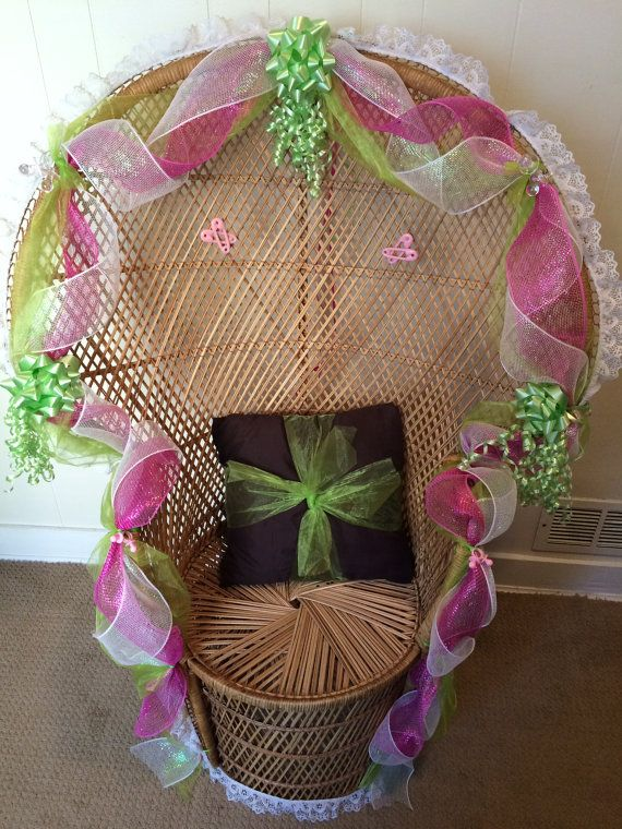 wicker baby shower chair rental by haydeejewelryandmore on etsy, Baby shower