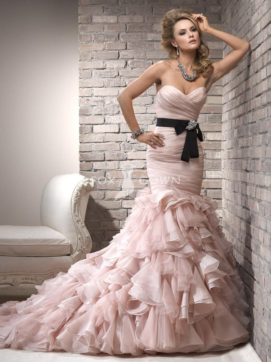 Fashionlovelygirls ivorywedding dresspink never again but