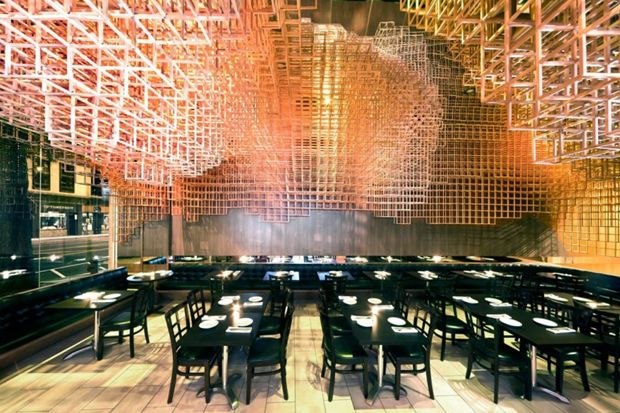 Innuendo Restaurant Ceiling Installation by Bluarch - Innuendo Restaurant Ceiling Installation By Bluarch Architecture