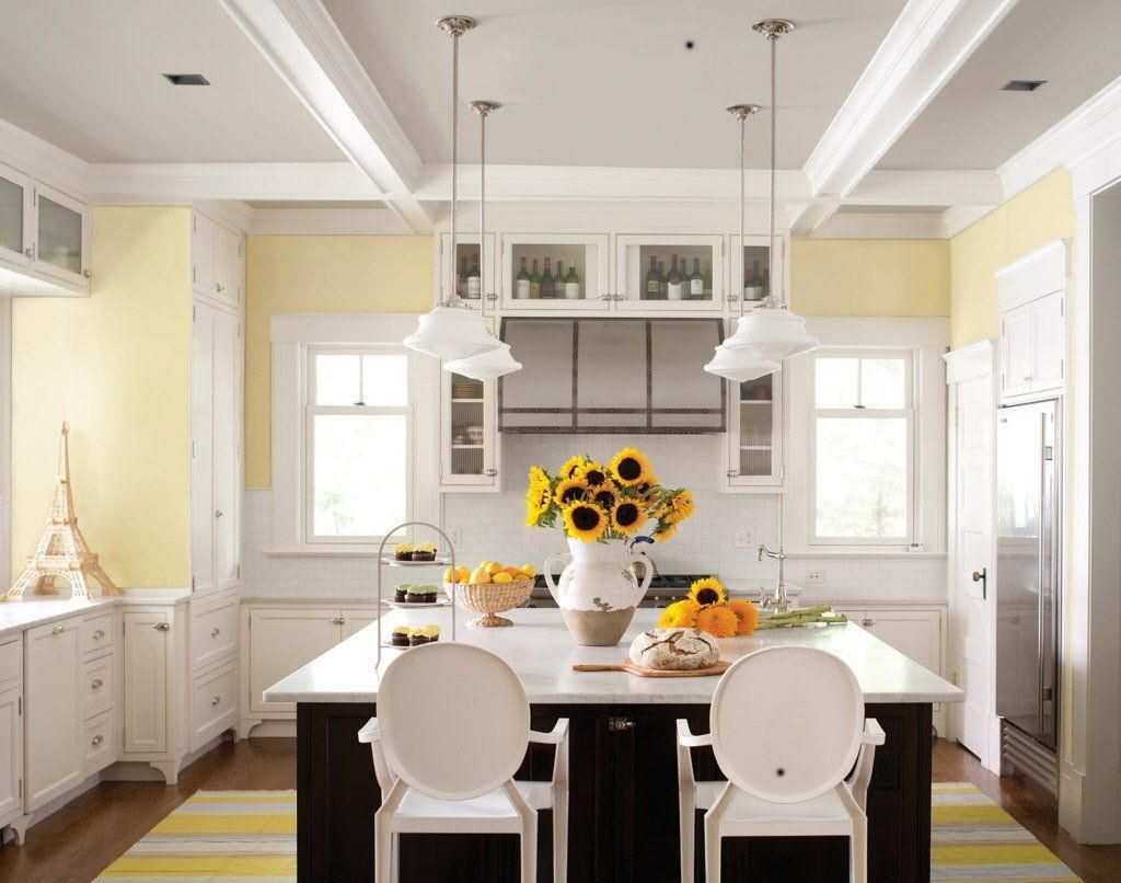 Pale Yellow Paint Color In East Facing Kitchen Kitchen Color