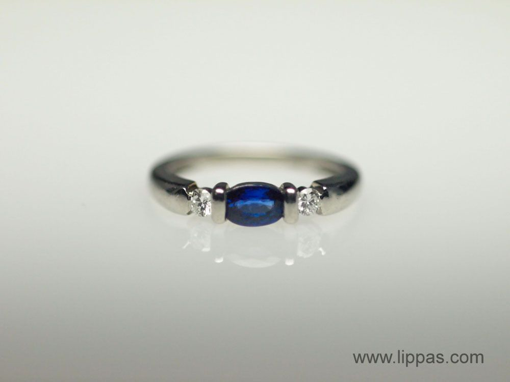 9a04c51e9 Lippa's Estate and Fine Jewelry - Platinum Oval Sapphire and Diamond Ring  by Spark