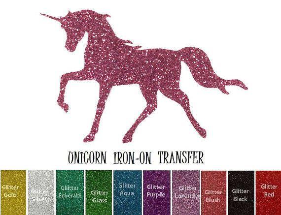 Custom Iron Ons Iron On Transfer Heat Transfer DIY Patch Birthday Unicorn Horse Custom Iron On Iron On Custom Iron On Name