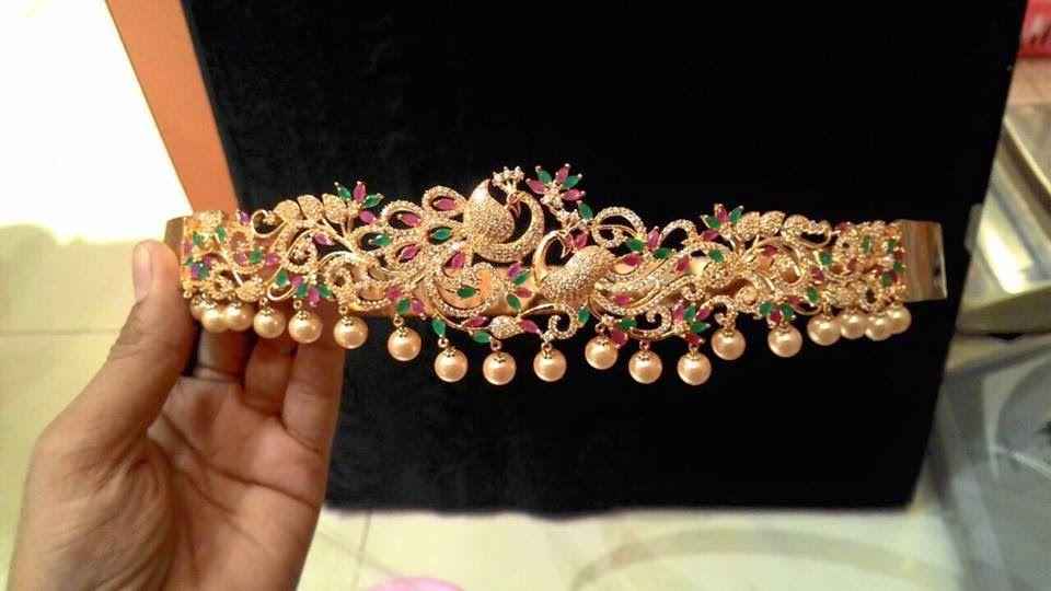 Latest 1 Gram Gold Heavy Vaddanam Designs In Belt Model