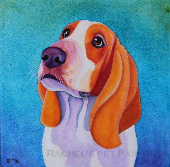 10x10 Custom Pet Portrait Watercolor by rachelspetpaintings