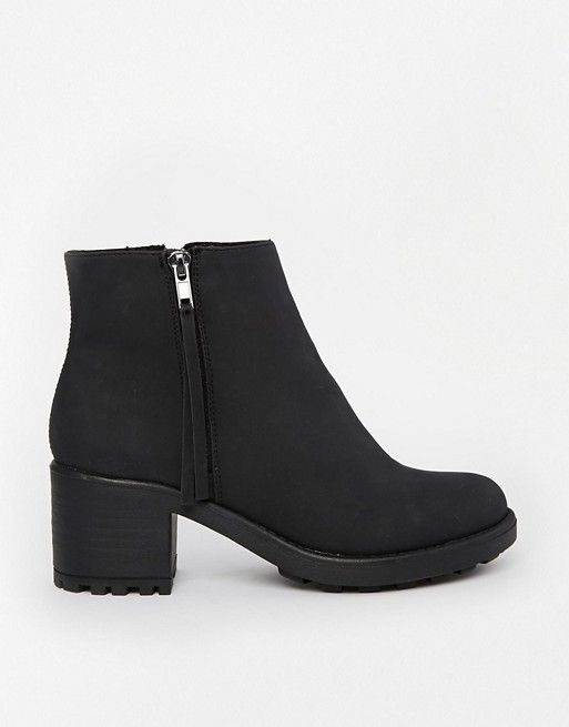 Shop River Island Zip Black Ankle Boots at ASOS.