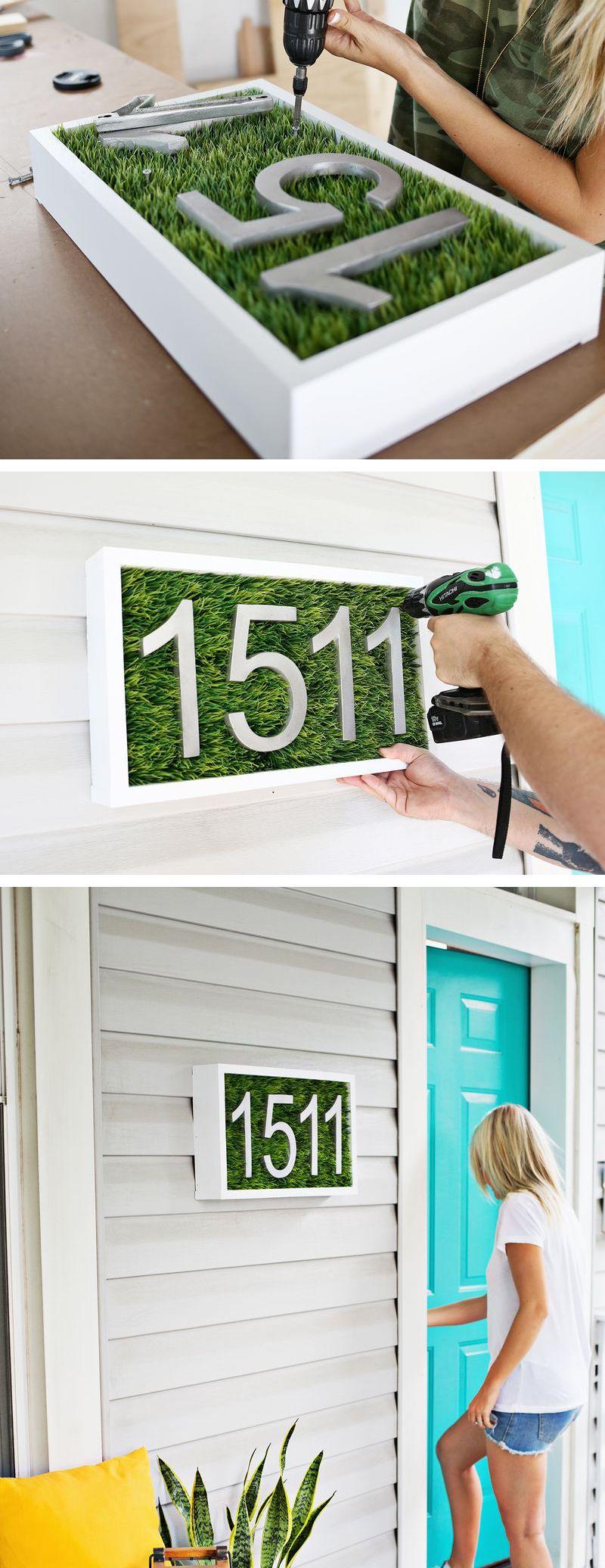 Diy modern house number