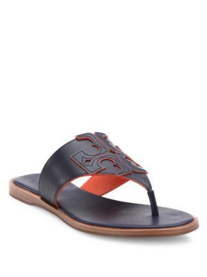 8603326003858 TORY BURCH Jamie Leather Logo Thong Sandals.  toryburch  shoes  sandals