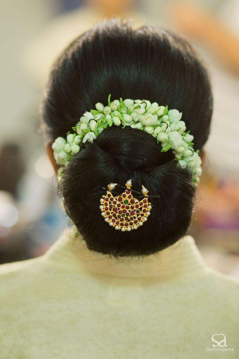 Nischyathartham Hair Bridal Bun Indian Hairstyles Bride Hairstyles