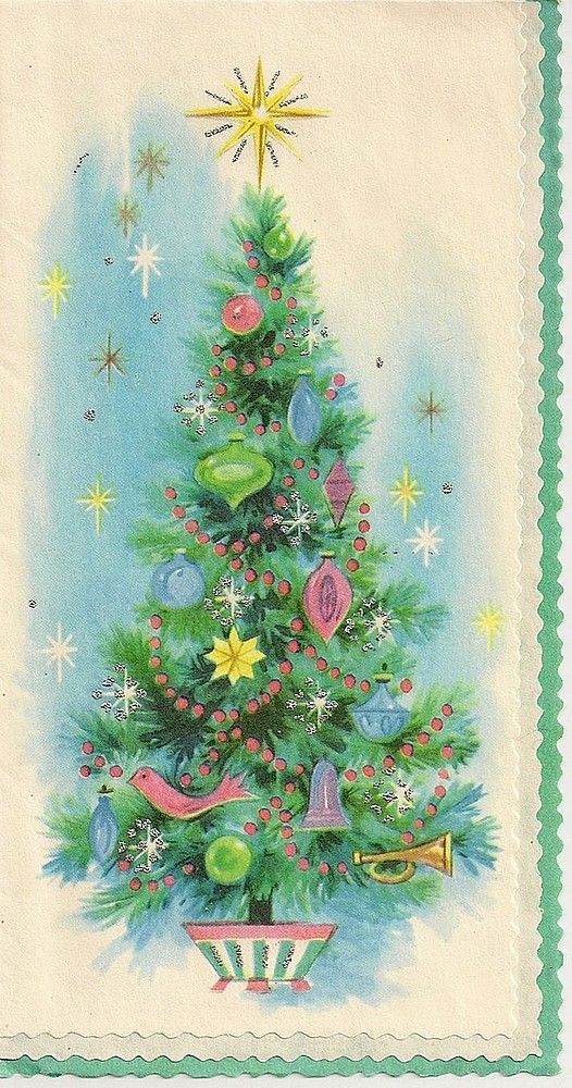 Old Christmas Post Cards — (526x1000)