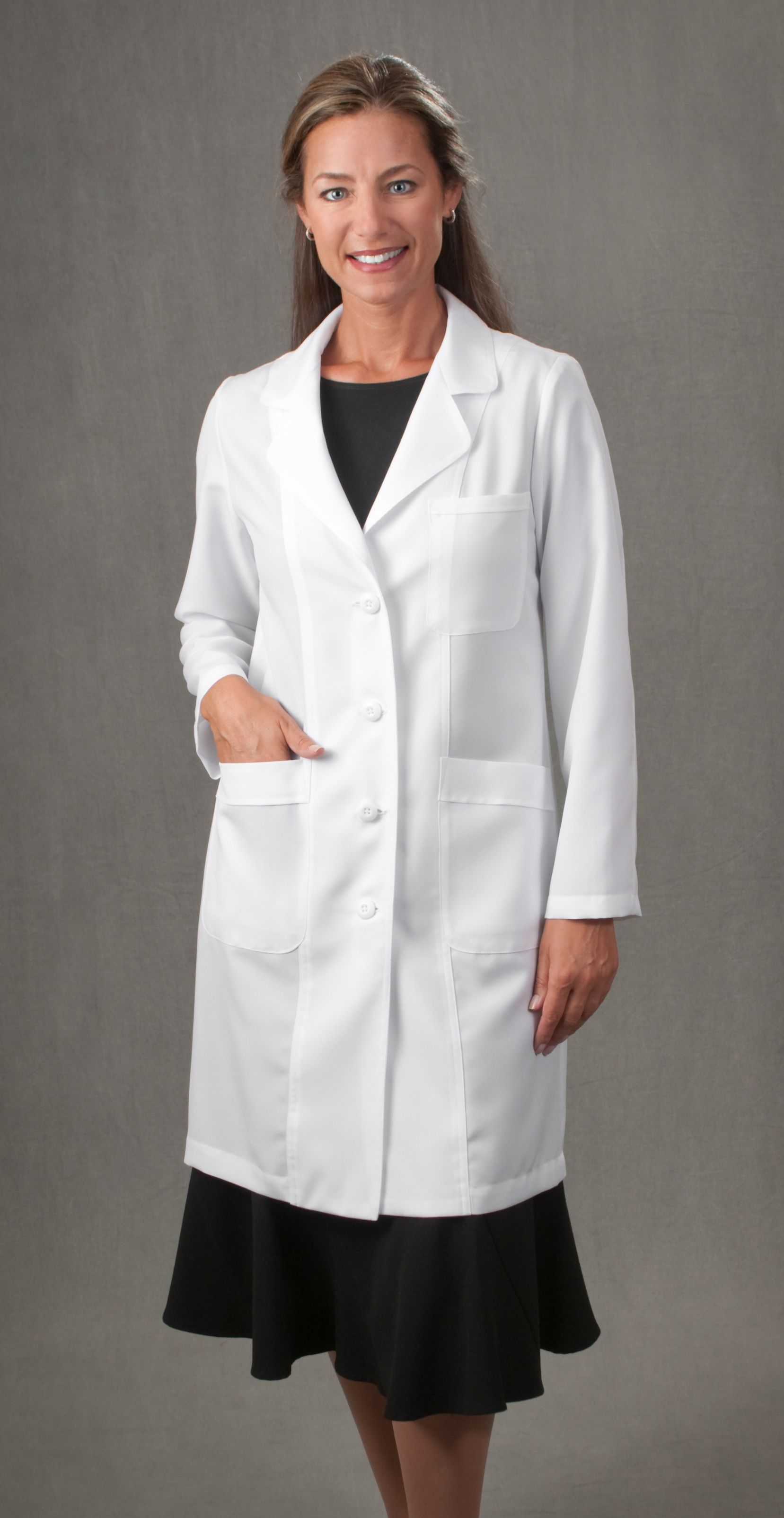 ed82a9bc10e Brenda dress and lab coat Doc's Duds - Designer Lab Coats Tailored for  Women and Men