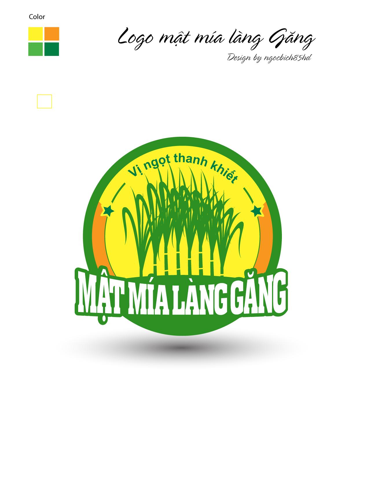 Logo Mật Mía Làng Găng trong 2020 Mắt, Mía