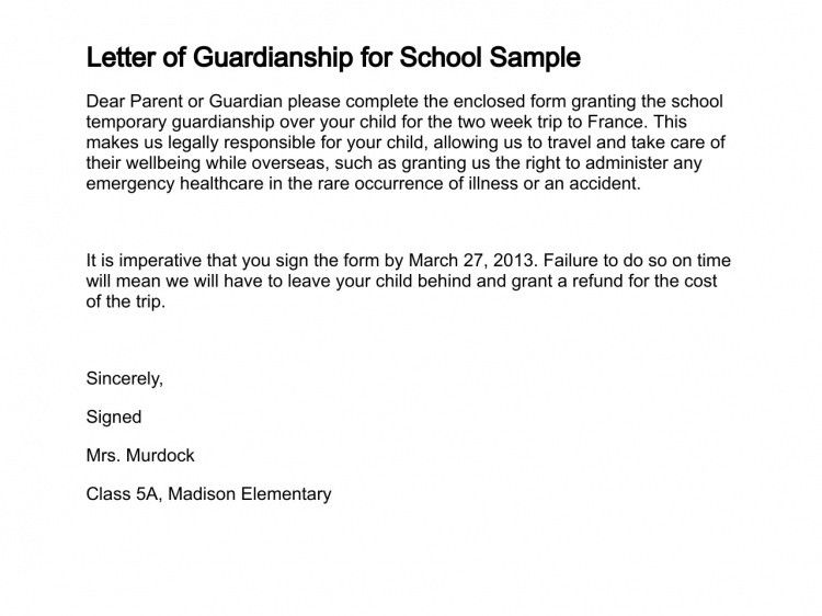 Guardian Letter For Child Sample from i.pinimg.com