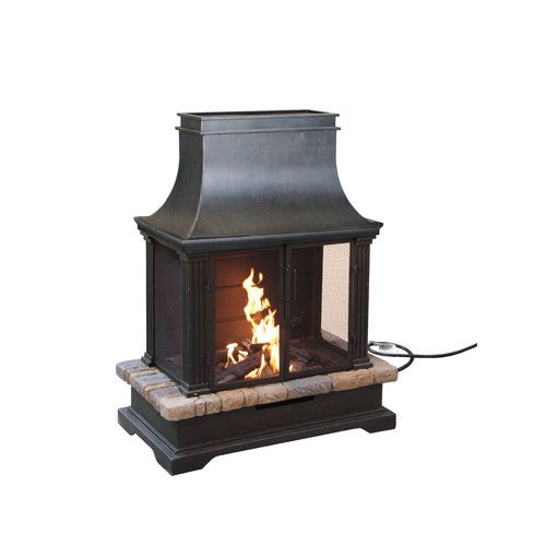 Bond Manufacturing Sevilla Steel Outdoor Fireplace Backyard In
