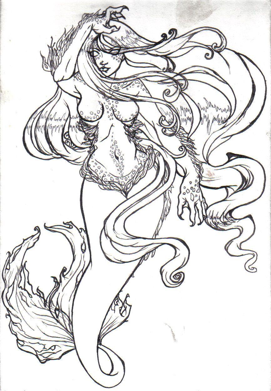 Evil Mermaid Drawings | coloring sheets | Pinterest | Mermaid ...