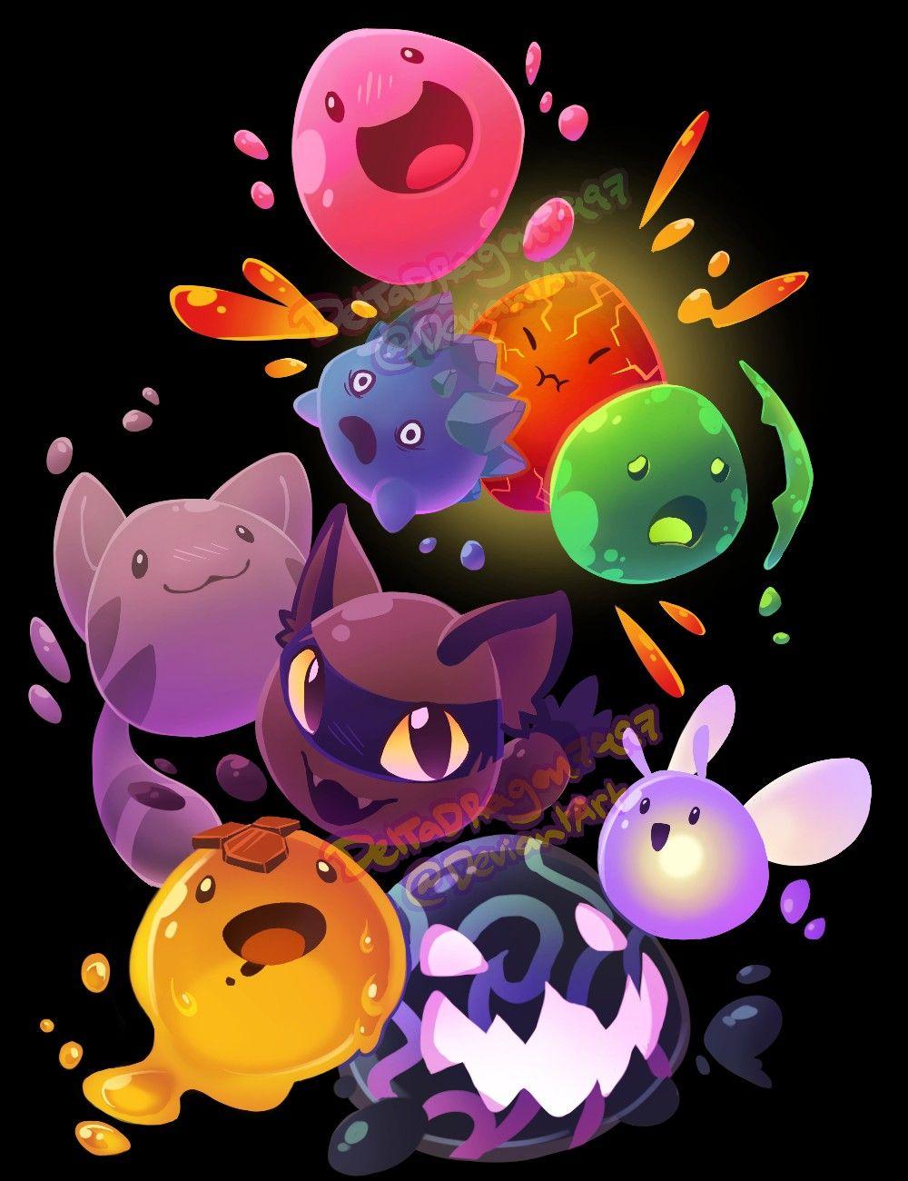 Pin By Melina Morero On Manualidades Ninos Slime Rancher Cute Pokemon Wallpaper Pokemon Eeveelutions