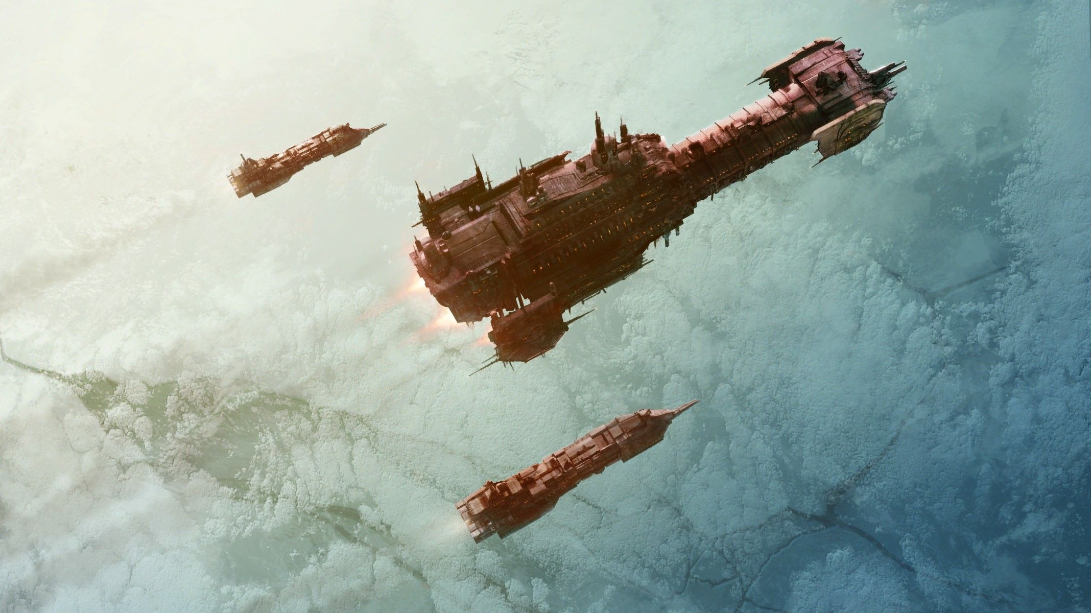 Space Marines artwork Battlefleet Gothic Warhammer 40,000