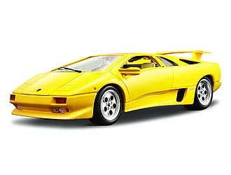 This Lamborghini Diablo Diecast Model Car Kit Is Yellow And Features
