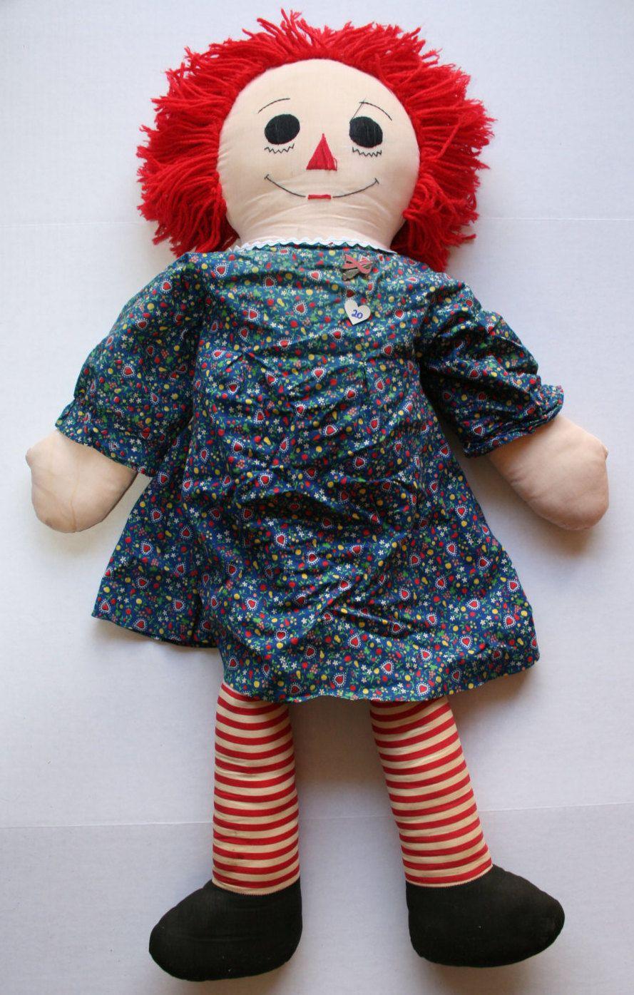 vintage handmade raggedy ann doll 36