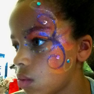 Love my daughter face painting.