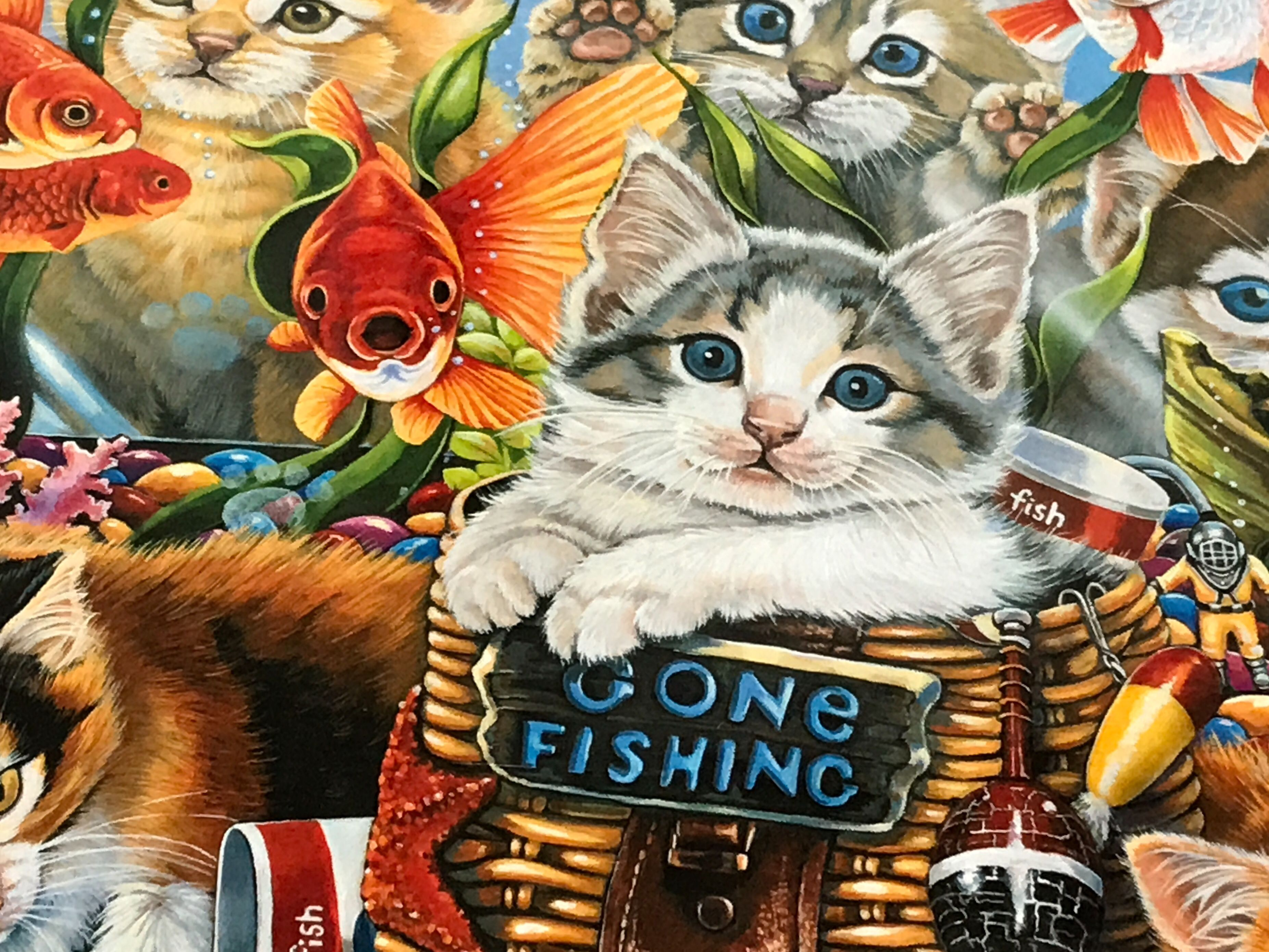 Gone Fishing 550 | Gone fishing, Fish, Puzzles