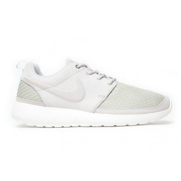 Run Nike Roshe Tissé Blanc Gris Détaillée